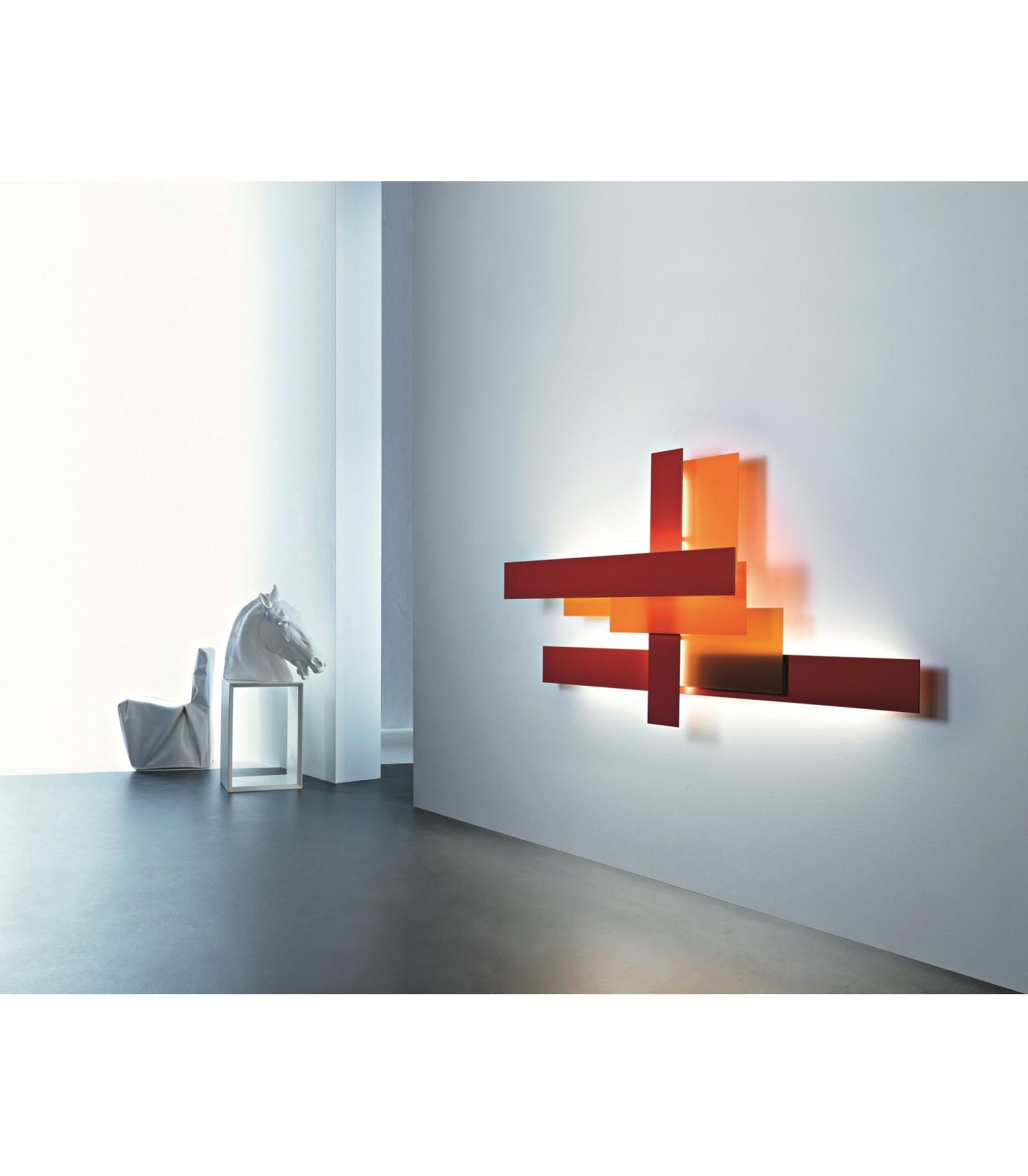 Lampada a parete fields foscarini for Saldi lampade design