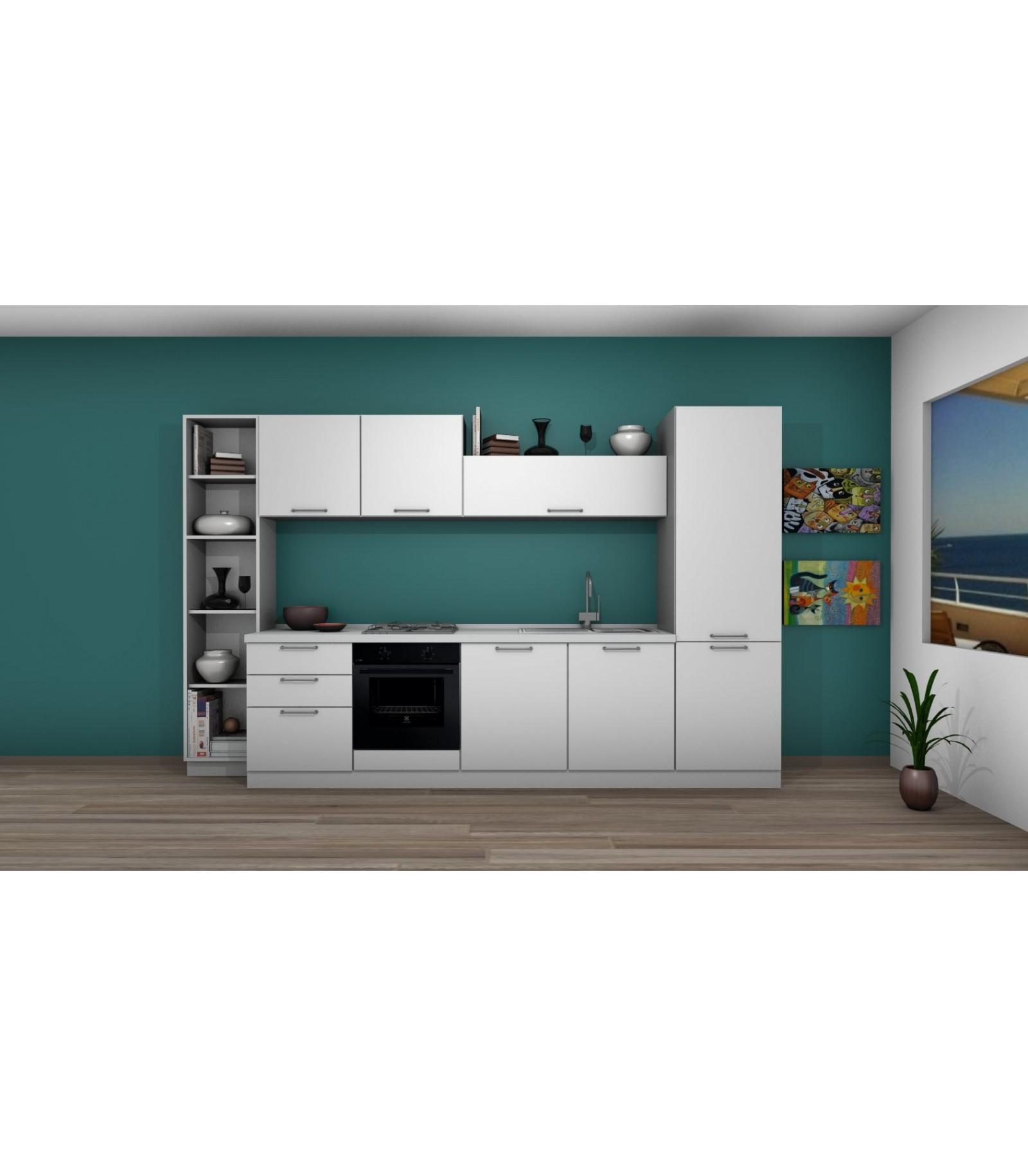 Cucina 04a lunghezza da 330 cm a 360 cm mariotti casa - Lunghezza cucina ...