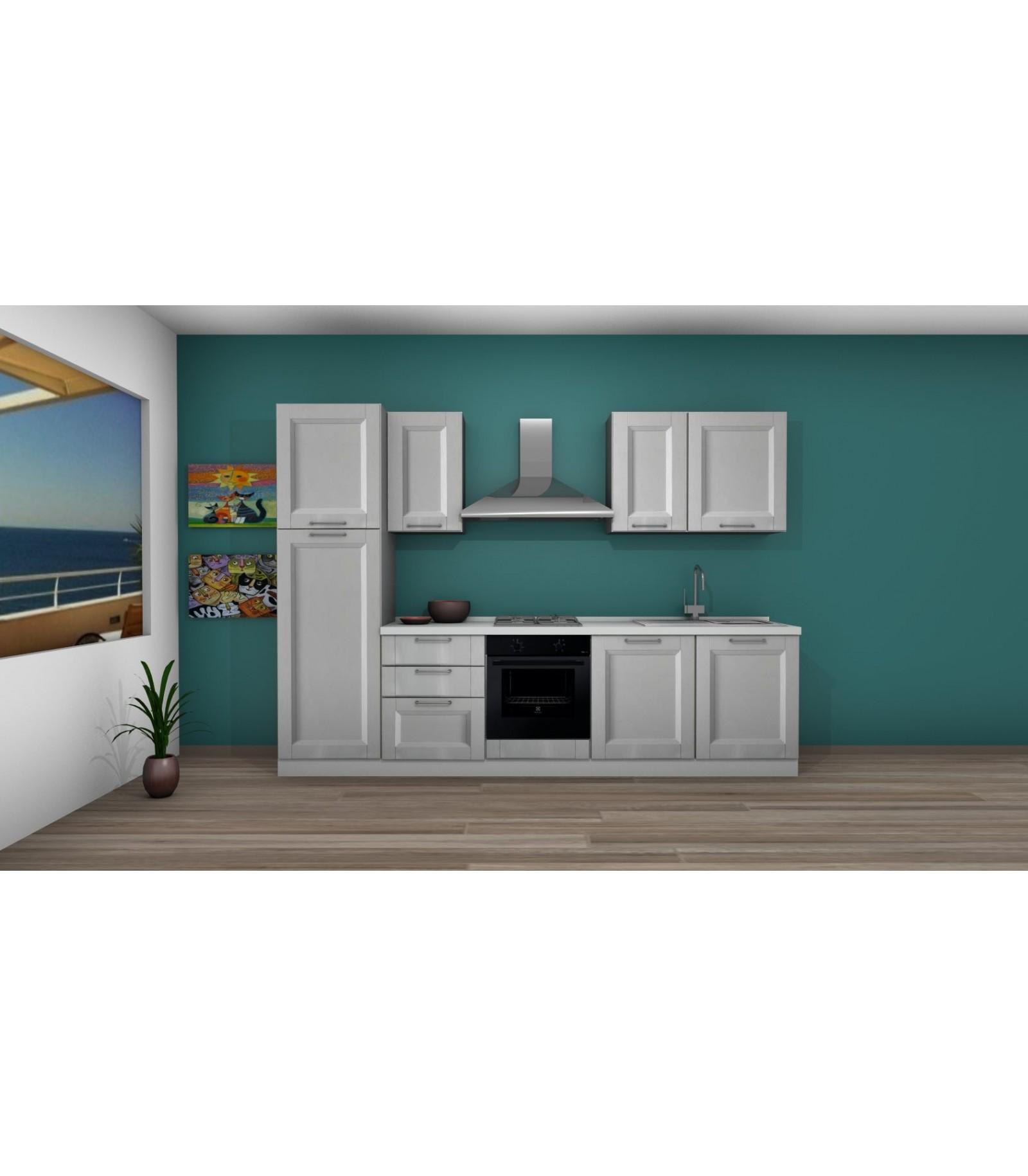 Cucina 02 lunghezza 300 cm ada telaio mariotti casa - Lunghezza cucina ...