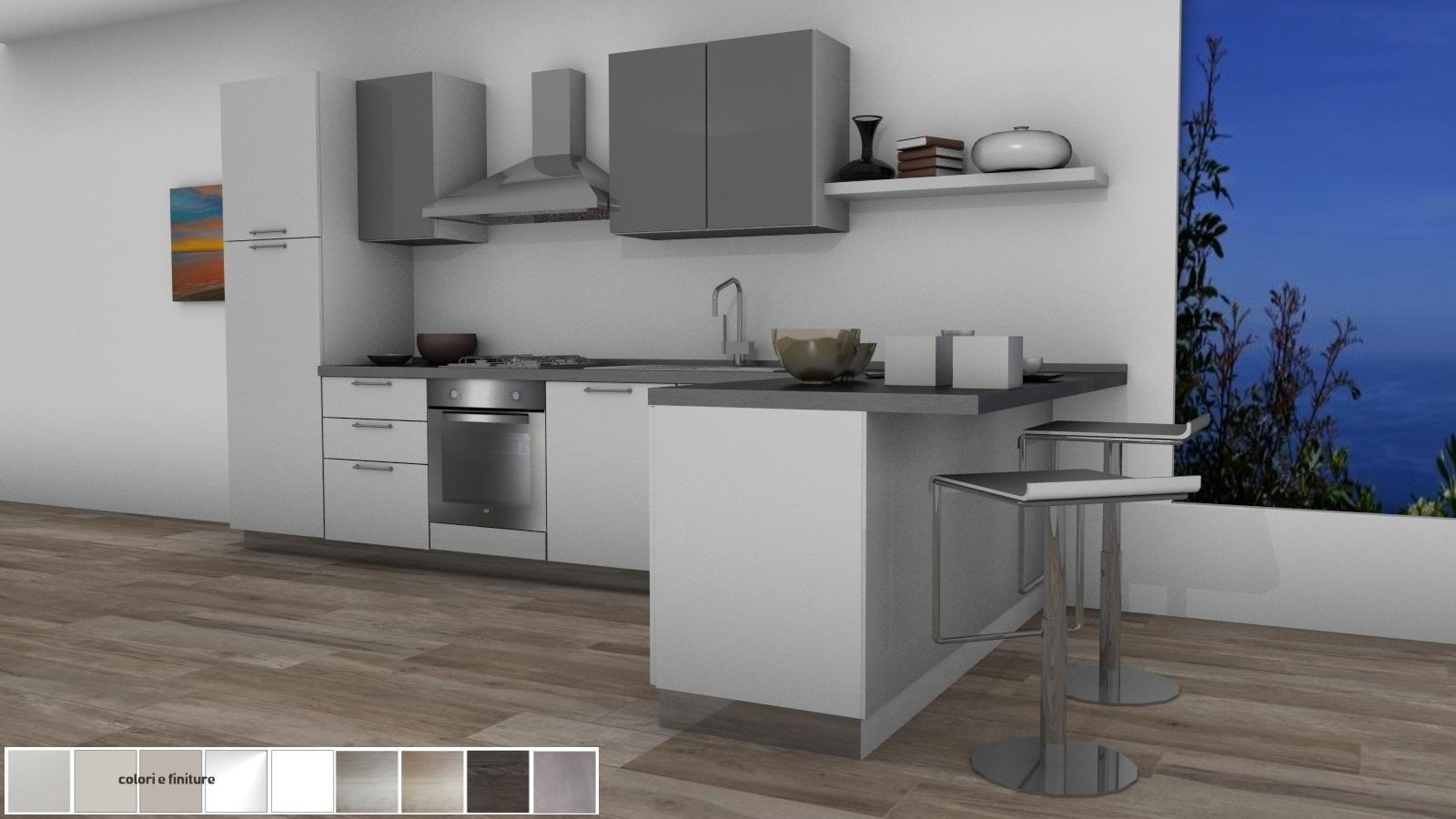 19 cucina con penisola 390X175