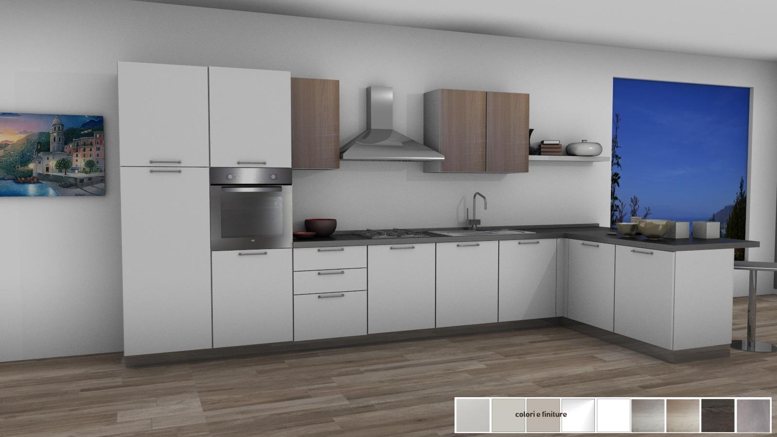21 cucina con penisola 450X175