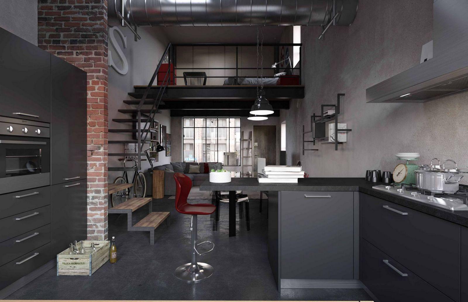 Le cucine collezione la casa moderna mariotti casa - Cucine urban style ...