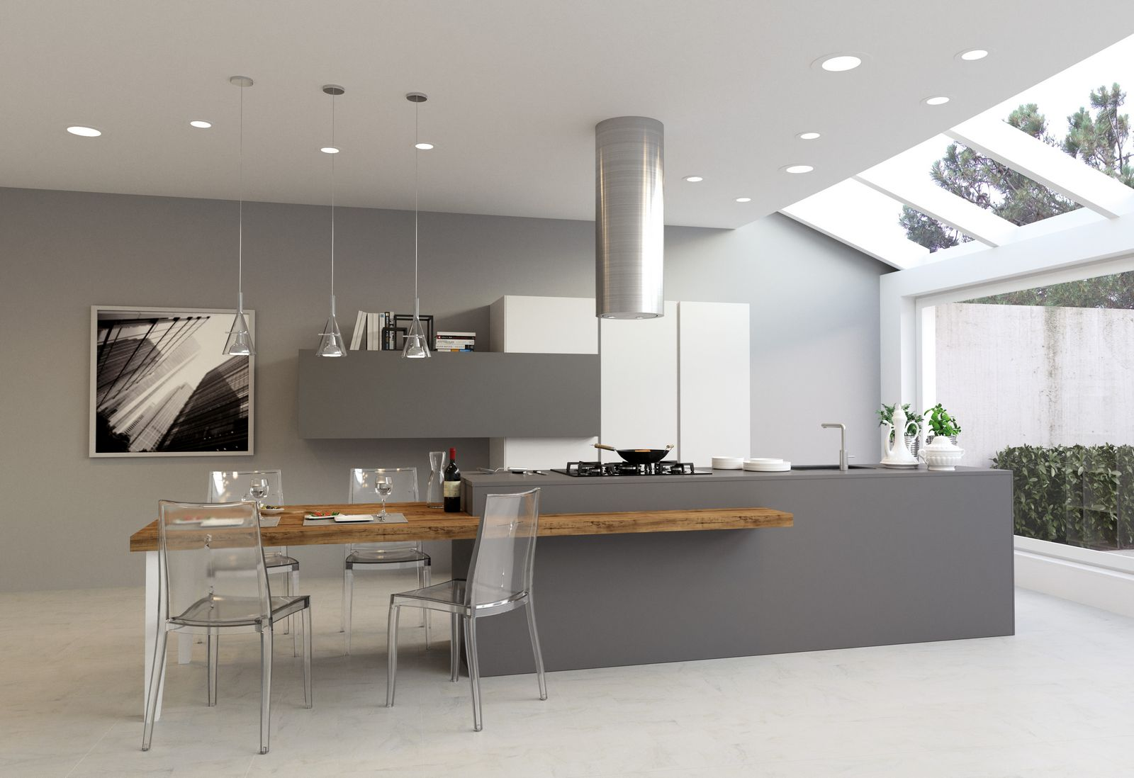 Awesome with cucine minimal for Finestra lunga cucina