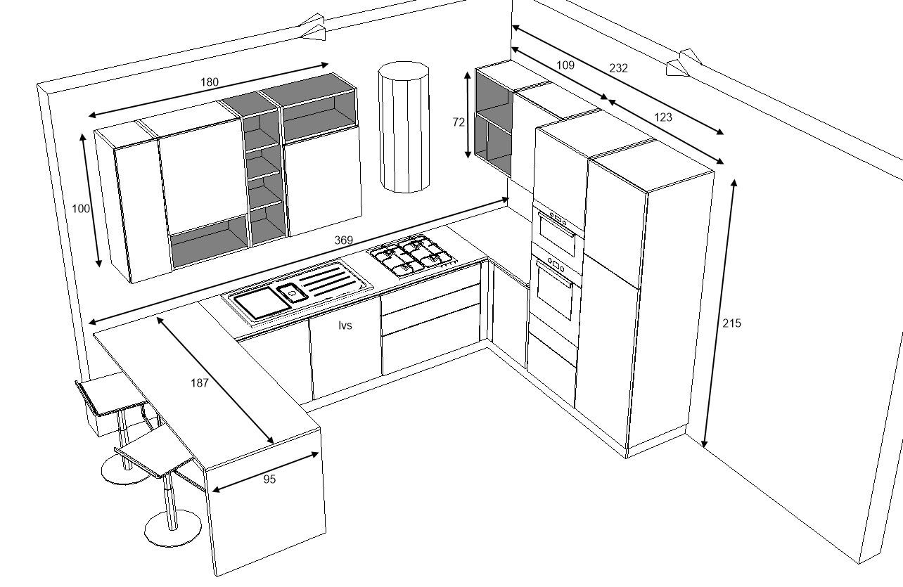 schema tecnico cucina sistematica casa moderna offerta outlet