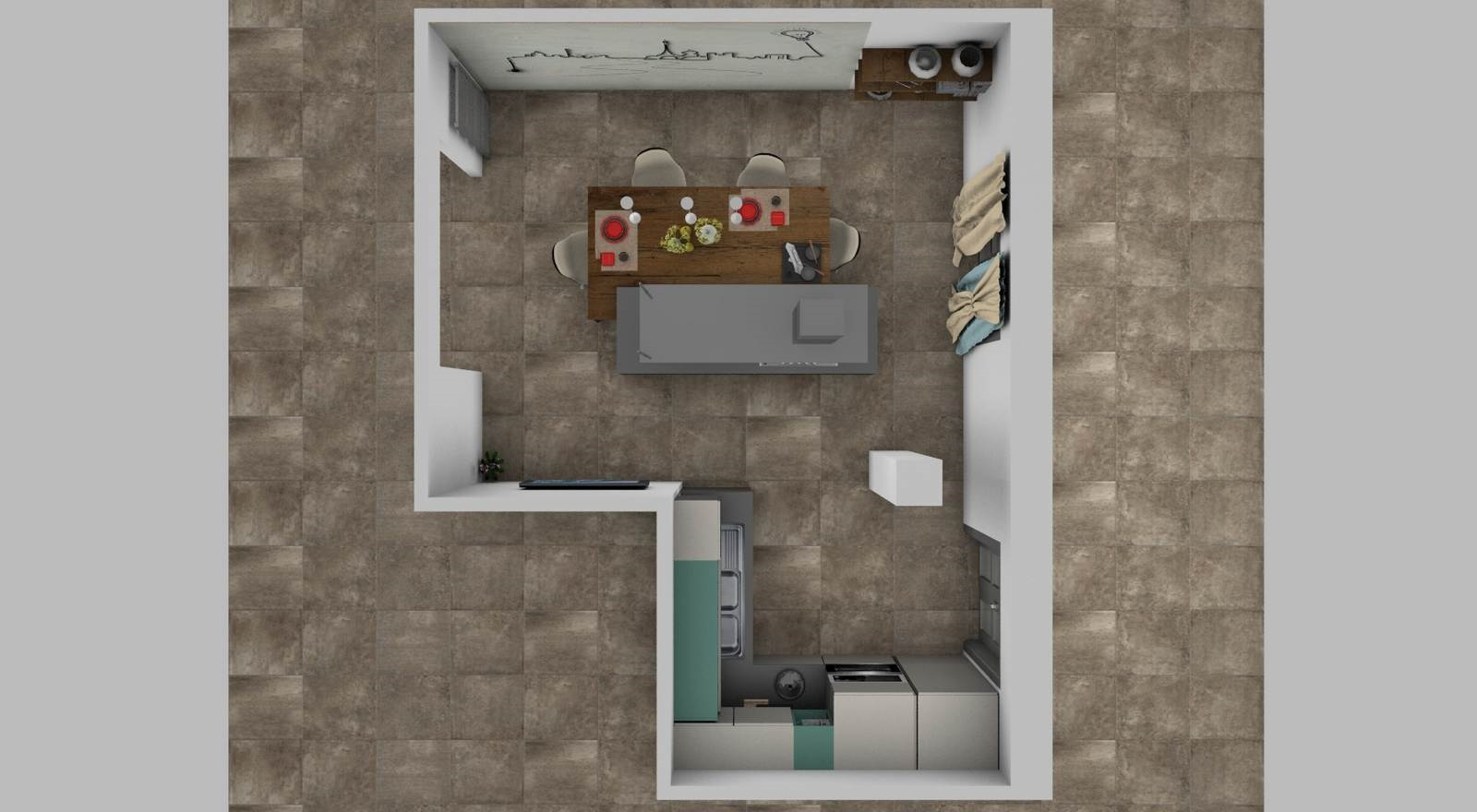 cucina Sistematica rendering 5