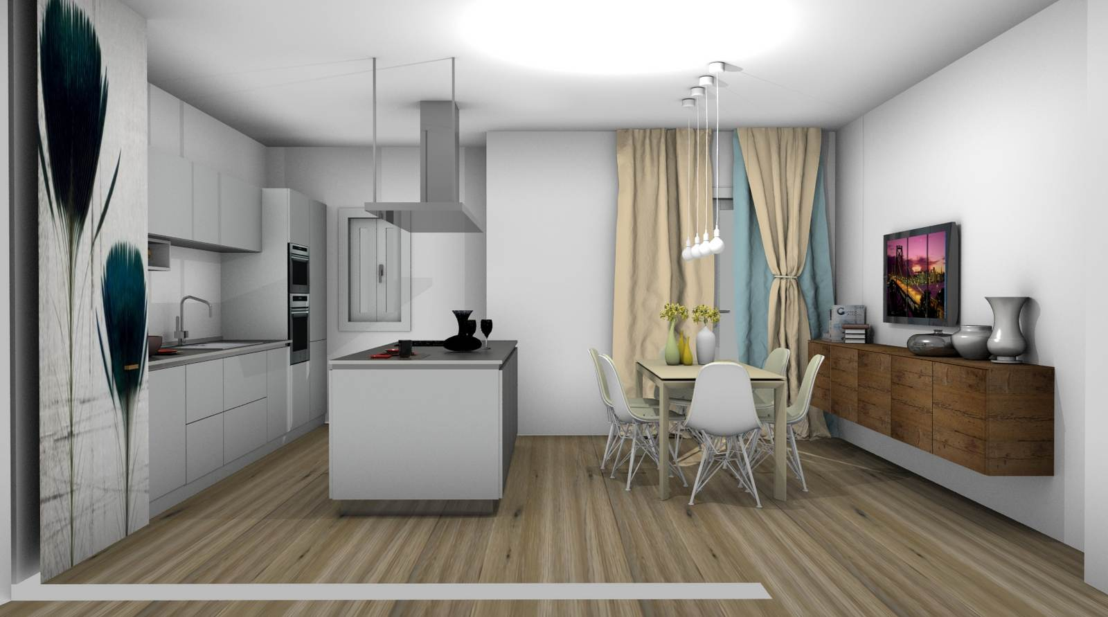 cucina One Ernestomeda rendering 2