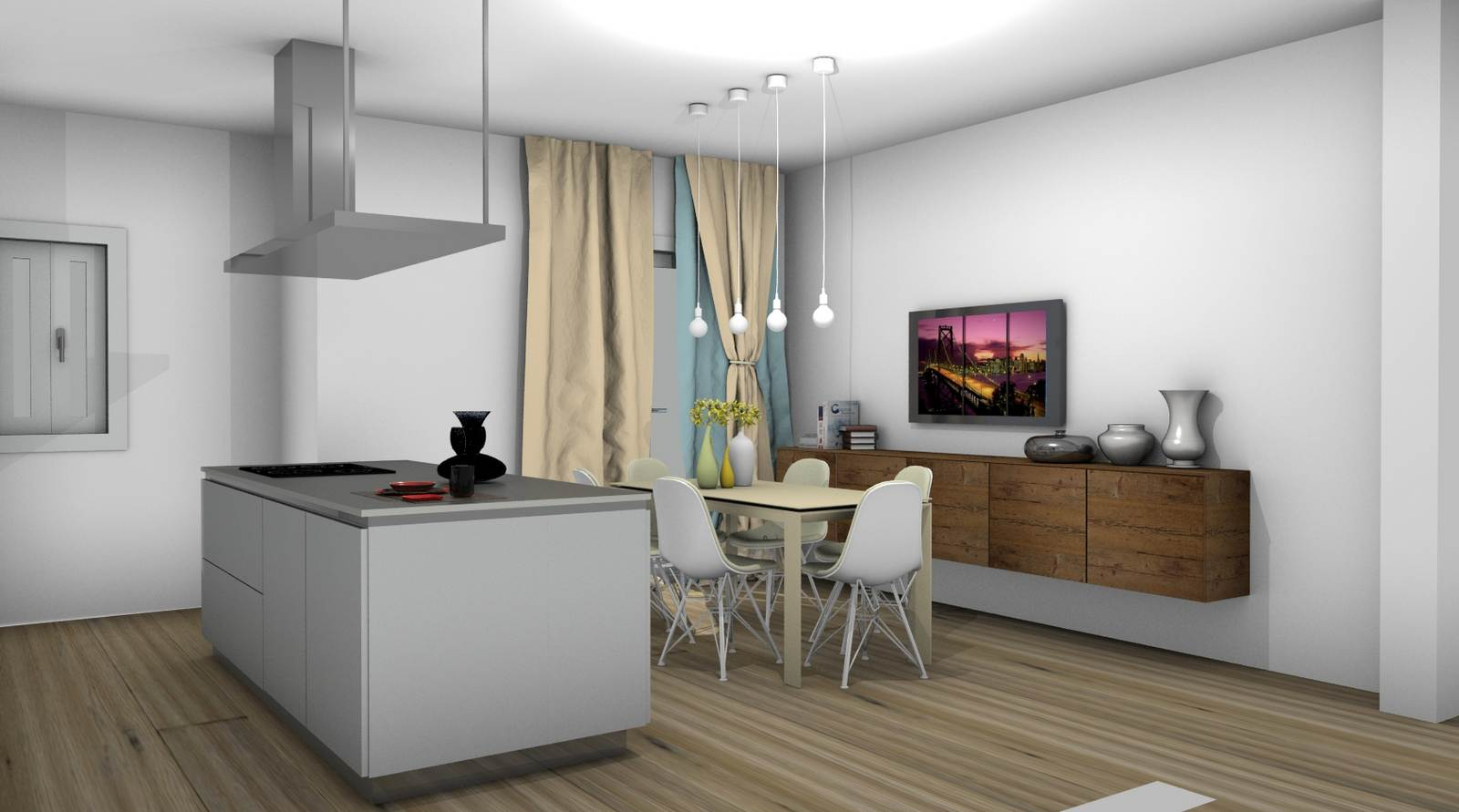 cucina One Ernestomeda rendering 3