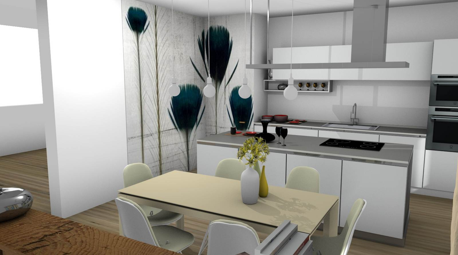 cucina One Ernestomeda rendering 6