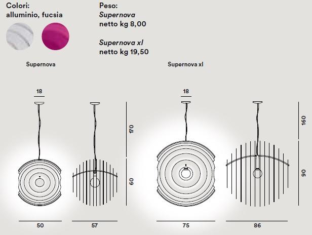 supernova foscarini scheda tecnica