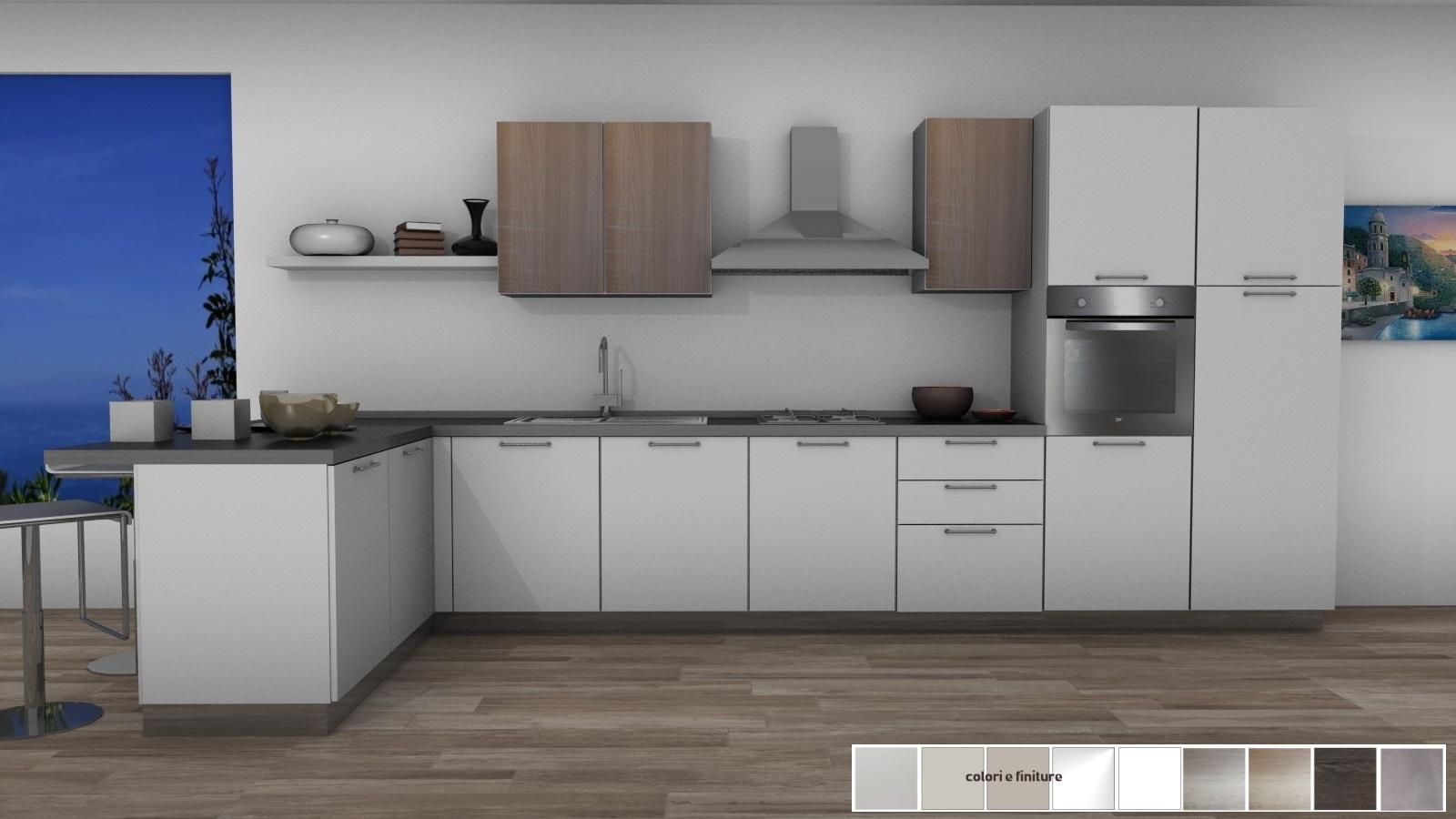 22 cucina con penisola 175x450