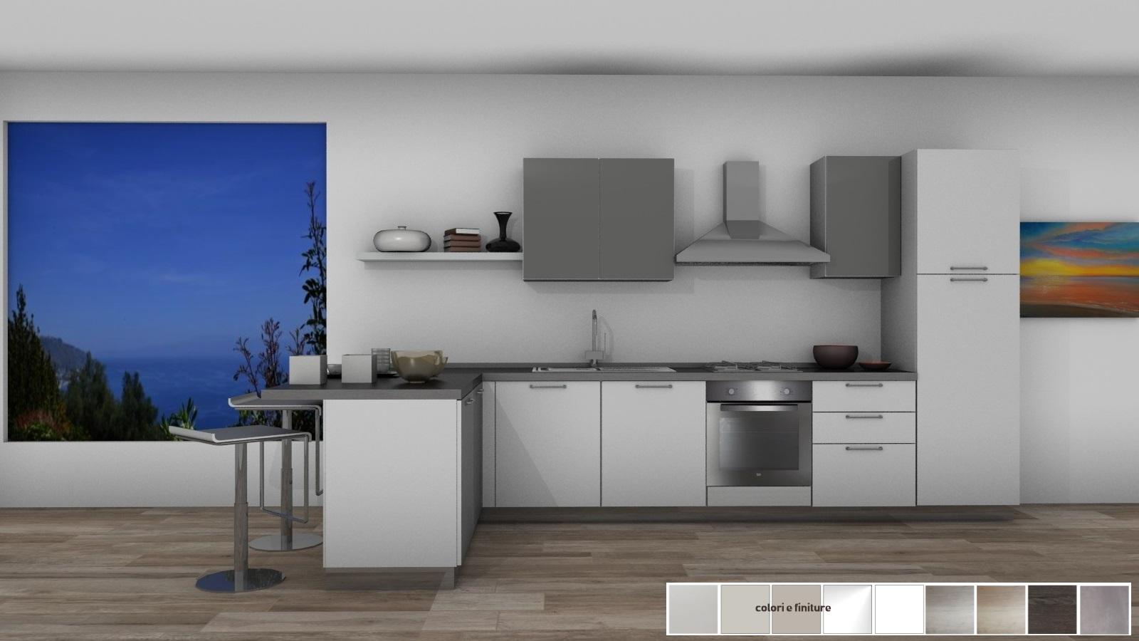 23 cucina con penisola 175x400