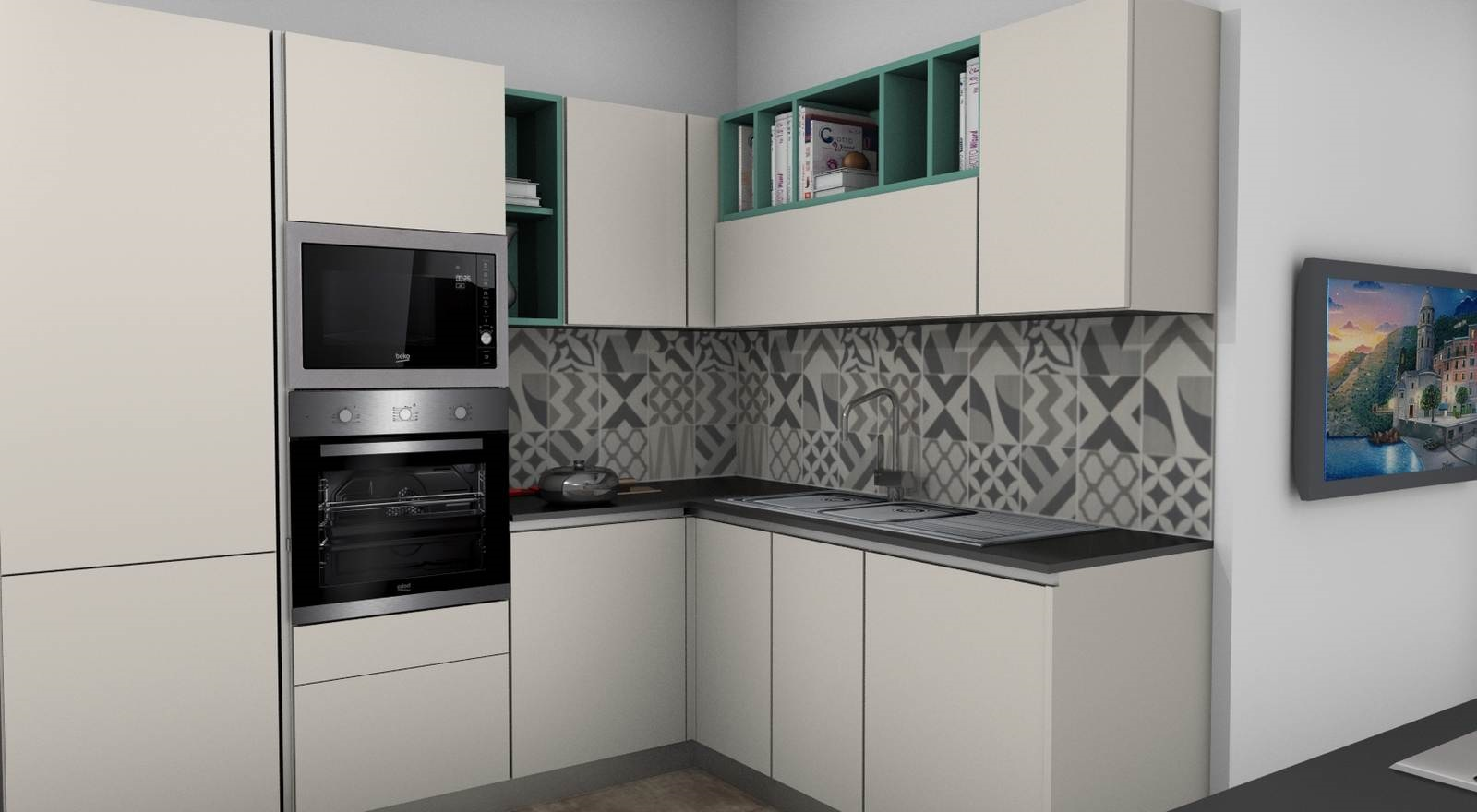 cucina Sistematica rendering 4