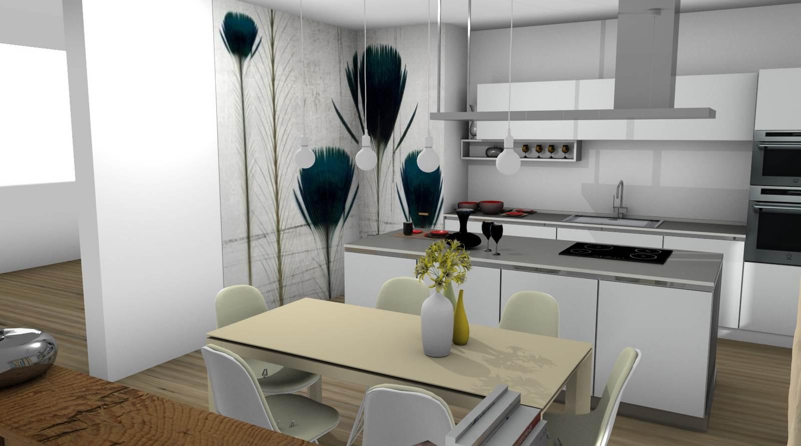 cucina One Ernestomeda rendering 6