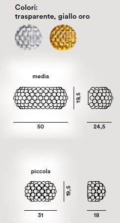 caboche parete scheda tecnica foscarini