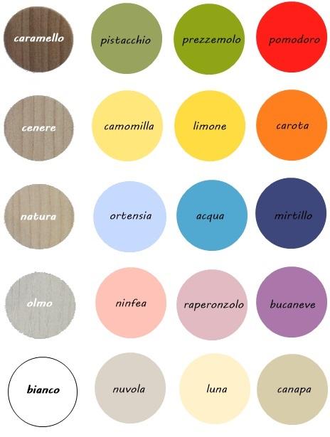 cartella colori camerette